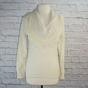 Anthropologie Angel of the North Fringe Sweater **